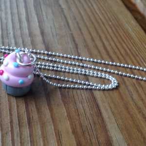 halsband rosa cupcake 925 sterling silver - presenttips